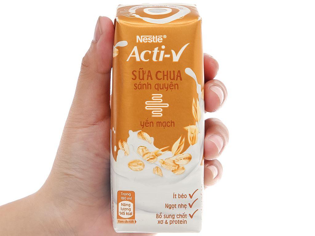 Thùng 24 hộp sữa chua yến mạch Nestlé Acti-V 180ml 8