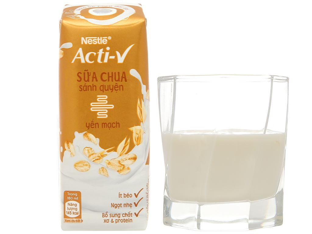 Thùng 24 hộp sữa chua yến mạch Nestlé Acti-V 180ml 9