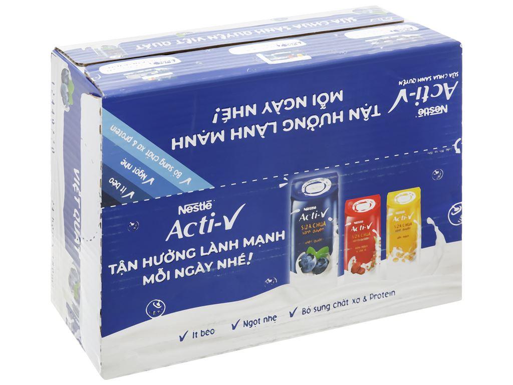 Thùng 24 hộp sữa chua vị việt quất Nestlé Acti-V 180ml 1