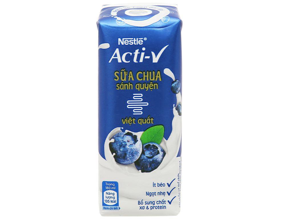Thùng 24 hộp sữa chua vị việt quất Nestlé Acti-V 180ml 2