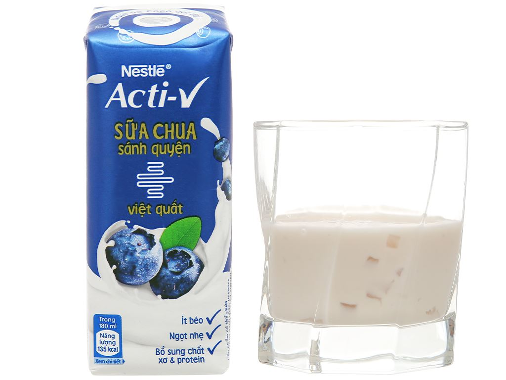 Thùng 24 hộp sữa chua vị việt quất Nestlé Acti-V 180ml 9