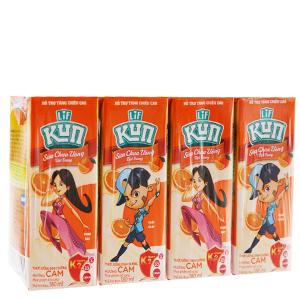 Lốc 4 hộp sữa chua uống LiF Kun cam 180ml
