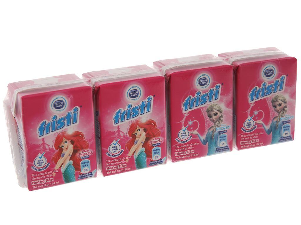 Lốc 4 hộp sữa chua uống Fristi dâu 110ml 2