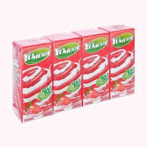 Lốc 4 hộp sữa chua uống hương dâu YoMost 170ml