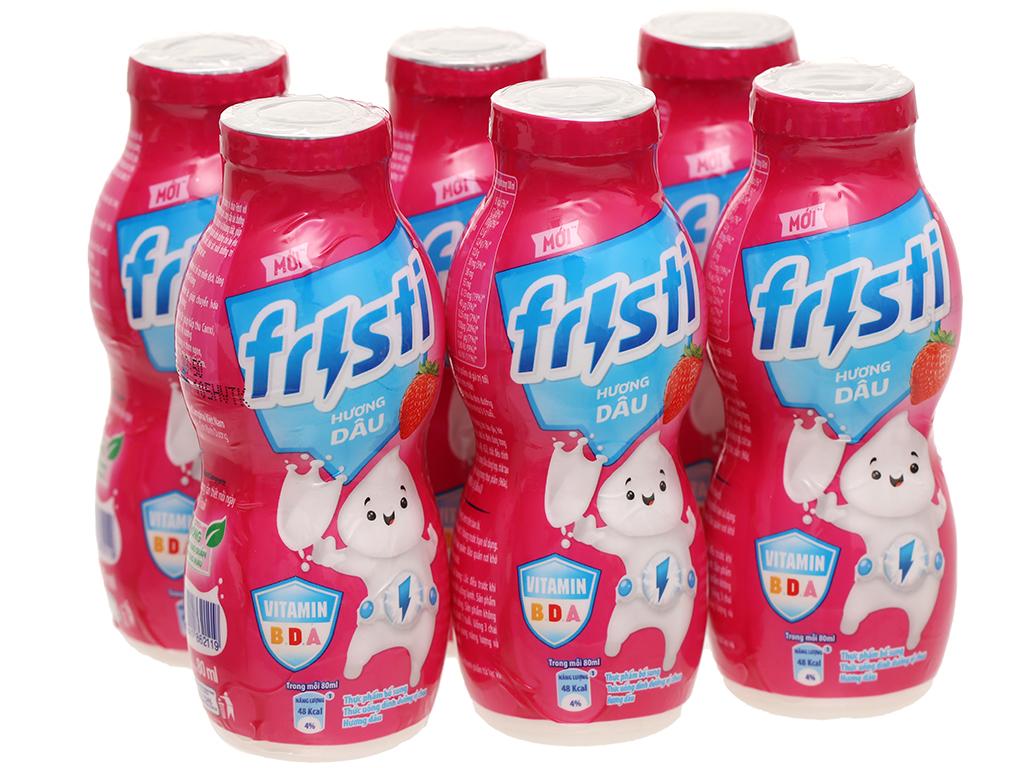 Lốc 6 chai sữa chua uống dâu Fristi 80ml 7