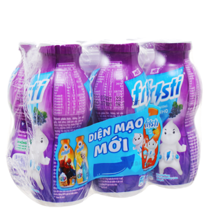 Lốc 6 chai sữa chua uống Fristi nho 80ml