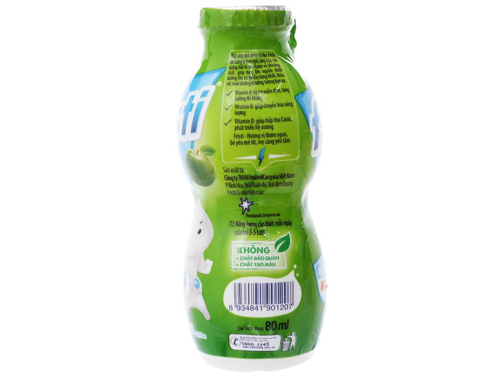 Lốc 6 chai sữa chua uống Fristi táo 80ml 3