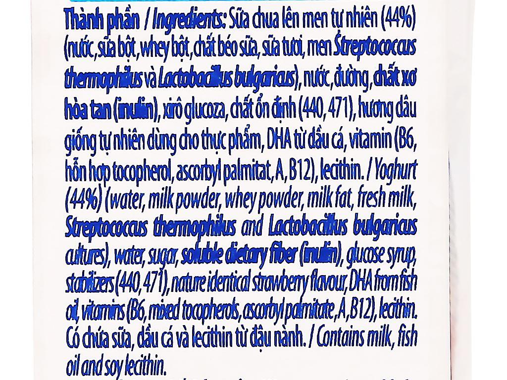 Lốc 4 hộp sữa chua uống SuSu vị dâu 110ml 11