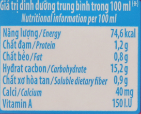 Giá trị dinh dưỡng sữa chua uống hương Dâu