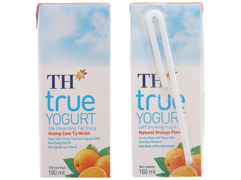 Lốc 4 hộp sữa chua uống TH True Yogurt cam 180ml 3