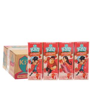 Thùng 48 hộp sữa chua uống LiF Kun kem dâu 180ml