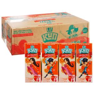 Thùng 48 hộp sữa chua uống hương cam LiF Kun 180ml