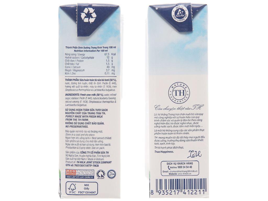 Thùng 48 hộp sữa chua uống hương việt quất TH True Yogurt 180ml 4