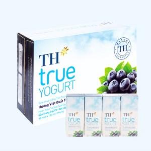 Thùng 48 hộp sữa chua uống hương việt quất TH True Yogurt 180ml