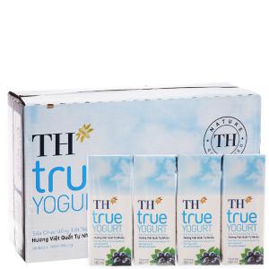 Thùng 48 hộp sữa chua uống TH True Yogurt việt quất 180ml