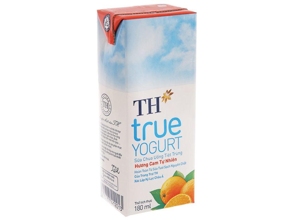 Thùng 48 hộp sữa chua uống TH True Yogurt cam 180ml 3