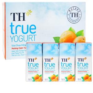 Thùng 48 hộp sữa chua uống hương cam TH True Yogurt 180ml