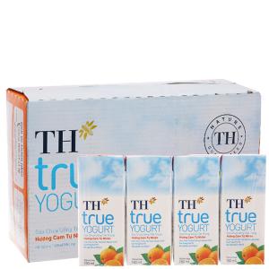 Thùng 48 hộp sữa chua uống TH True Yogurt cam 180ml