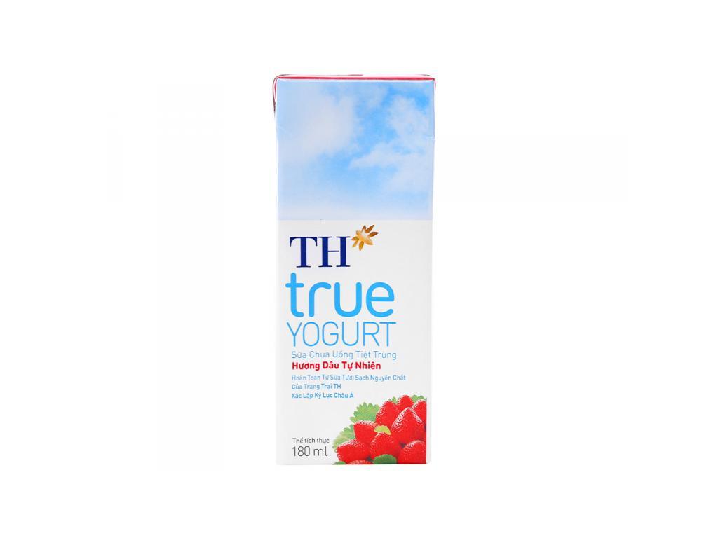 Thùng 48 hộp sữa chua uống TH True Yogurt dâu 180ml 3