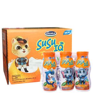Thùng 48 chai sữa chua uống SuSu IQ cam 80ml