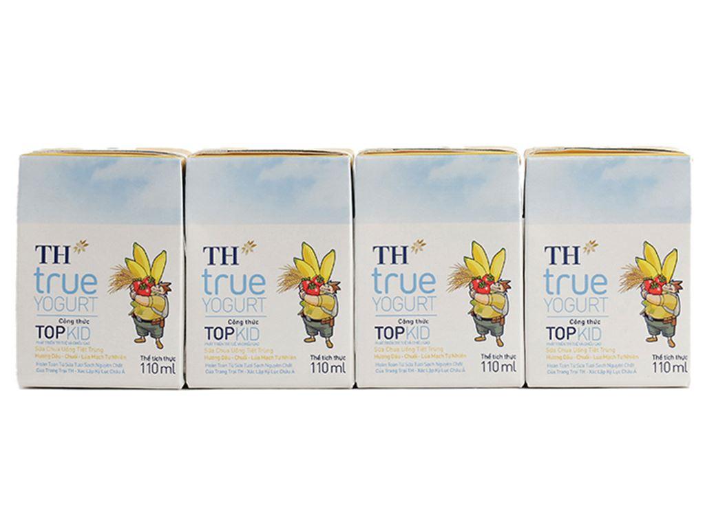Thùng 48 hộp sữa chua uống TH True Yogurt Top Kid vị dâu chuối và lúa mạch 110ml 2
