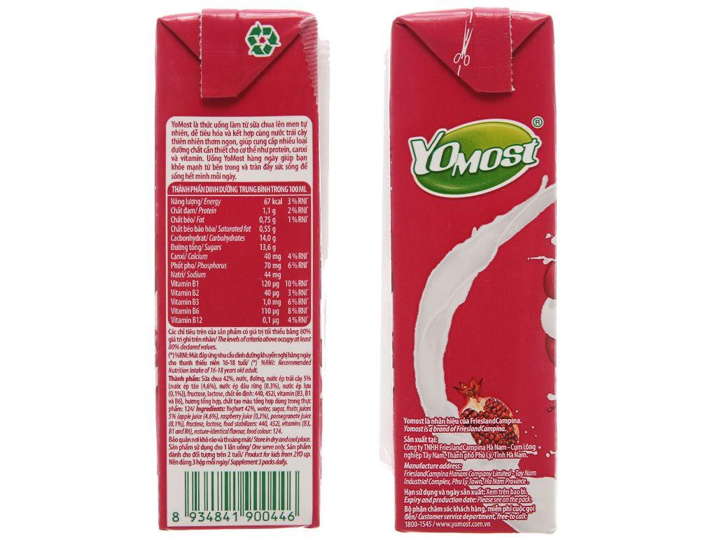 Thùng 48 hộp sữa chua uống YoMost lựu 170ml 4