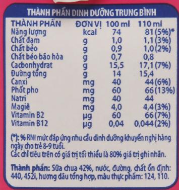 Thùng 48 hộp sữa chua uống Fristi dâu 110ml 6