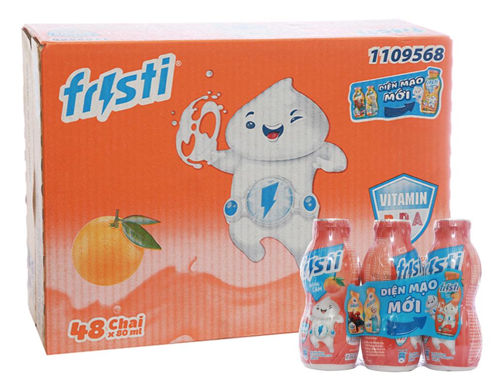 Thùng 48 chai sữa chua uống Fristi cam 80ml 1
