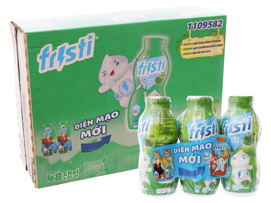 Thùng 48 chai sữa chua uống Fristi táo 80ml 1