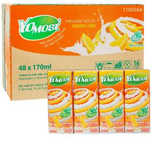 Thùng 48 hộp sữa chua uống hương cam YoMost 170ml