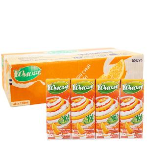 Thùng 48 hộp sữa chua uống YoMost cam 170ml