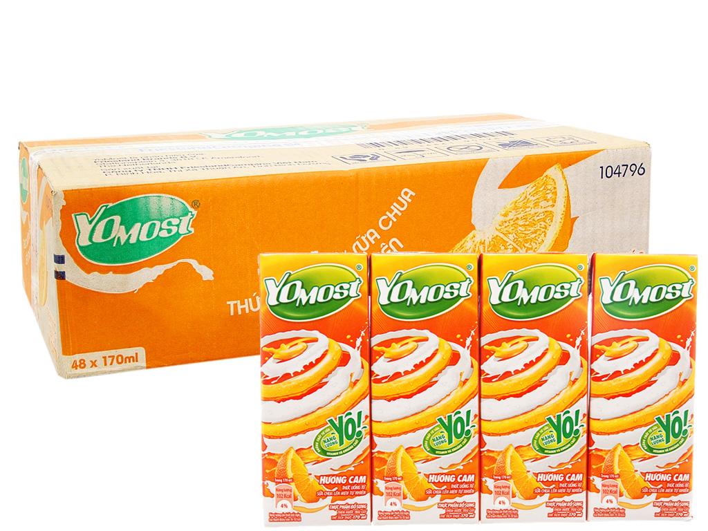 Thùng 48 hộp sữa chua uống YoMost cam 170ml 1