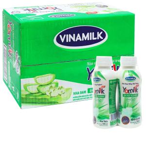 Thùng 24 chai sữa chua uống nha đam Vinamilk Yomilk 150ml
