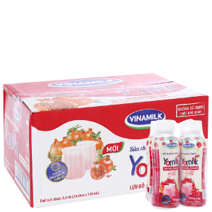 Thùng 24 chai sữa chua uống Vinamilk lựu 150ml