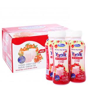 Thùng 24 chai sữa chua uống Vinamilk Yomilk lựu đỏ 150ml