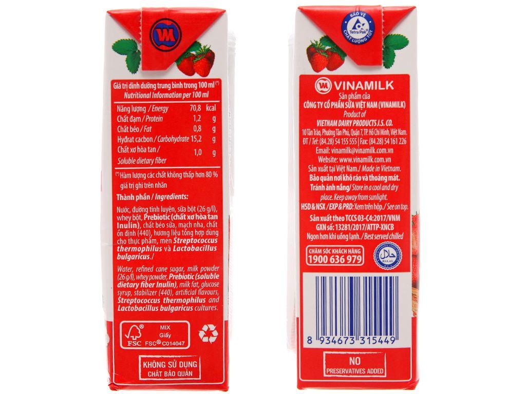 Thùng 48 hộp sữa chua uống Vinamilk dâu 180ml 4