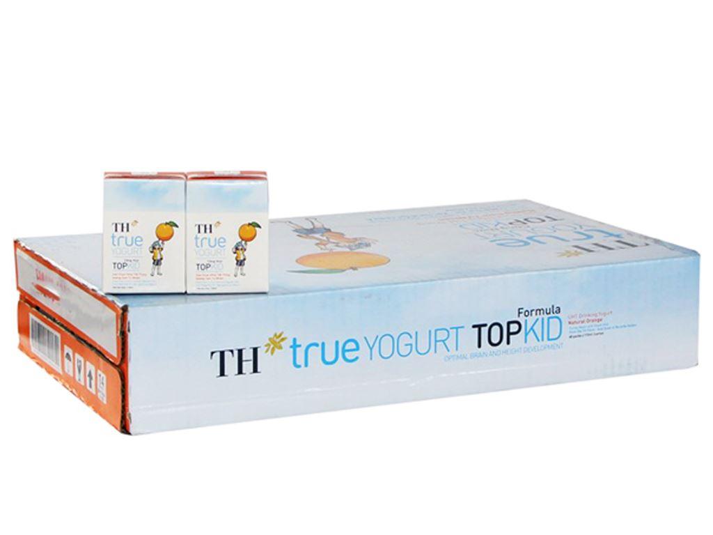 Thùng 48 hộp sữa chua uống TH True Yogurt Top Kid cam 110ml 1