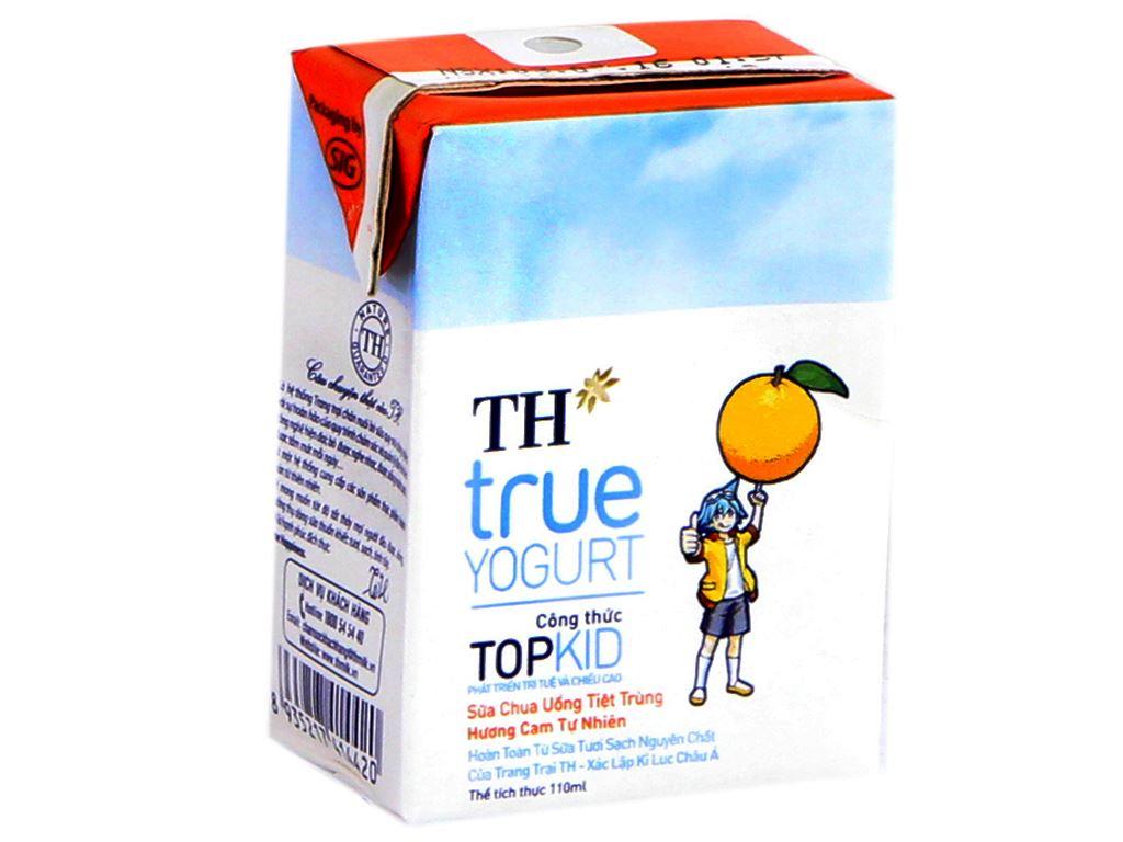 Thùng 48 hộp sữa chua uống TH True Yogurt Top Kid cam 110ml 2