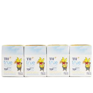 Lốc 4 hộp sữa chua uống TH True Yogurt Top Kid vị dâu chuối và lúa mạch 110ml