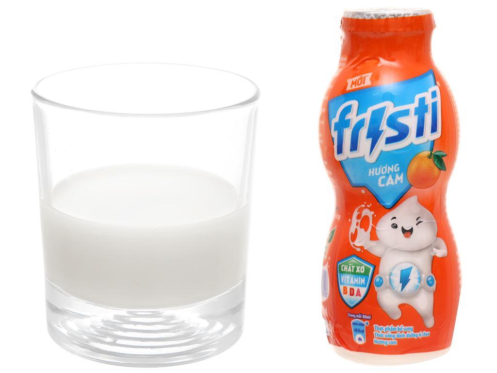 Lốc 6 chai sữa chua uống cam Fristi 80ml 7