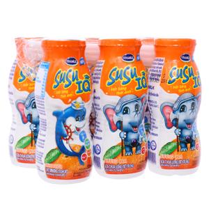 Lốc 6 chai sữa chua uống cam SuSu IQ 80ml