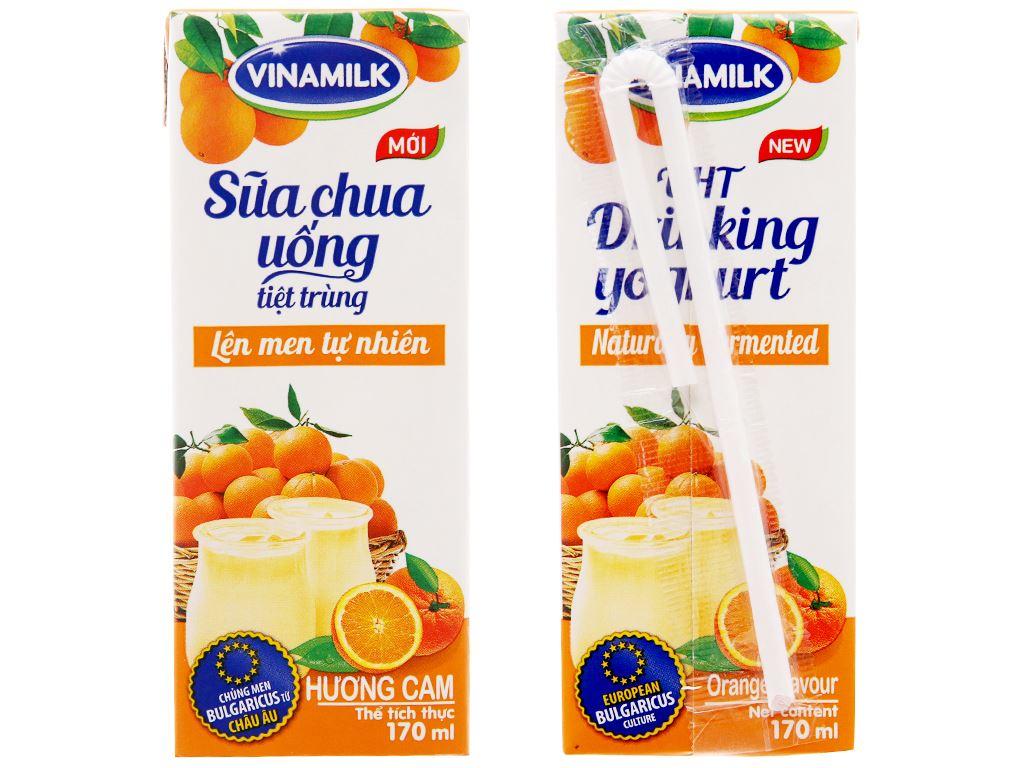 Thùng 48 hộp sữa chua uống Vinamilk cam 180ml 3