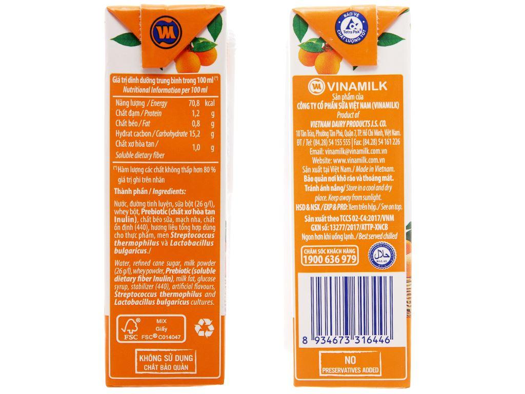 Thùng 48 hộp sữa chua uống Vinamilk cam 180ml 4