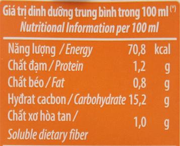 Thùng 48 hộp sữa chua uống Vinamilk cam 180ml 6