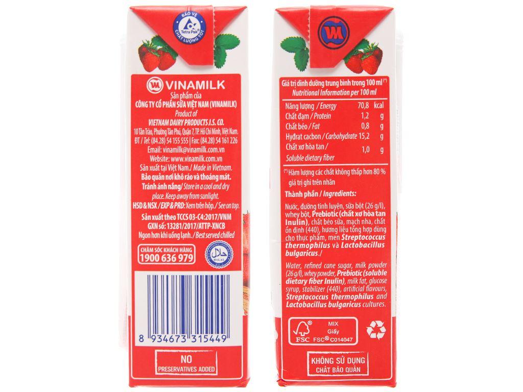 Thùng 48 hộp sữa chua uống hương dâu Vinamilk 170ml 3