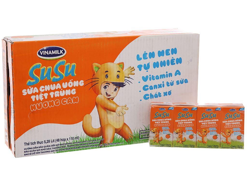 Thùng 48 hộp sữa chua uống SuSu cam 110ml 2