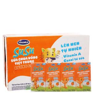 Thùng 48 hộp sữa chua uống SuSu cam 110ml