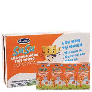 Thùng 48 hộp sữa chua uống cam SuSu 110ml