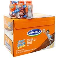 Sữa Super Susu Ca Cao Lúa Mạch chai 80ml (thùng 48 chai)