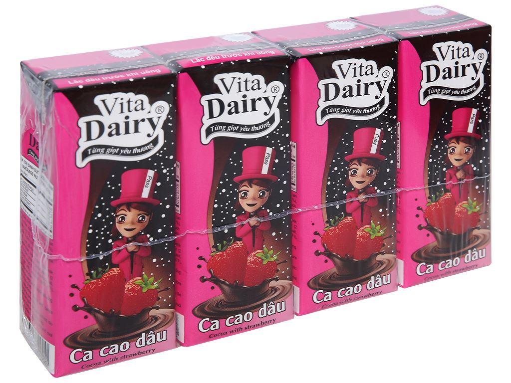 Lốc 4 hộp cacao sữa dâu Vita Dairy 180ml 1